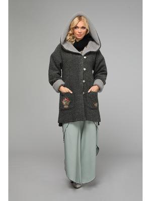 Пальто KATA BINSKA. Цвет: серый, темно-серый
