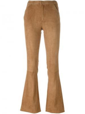 Расклешенные брюки Drome. Цвет: телесный