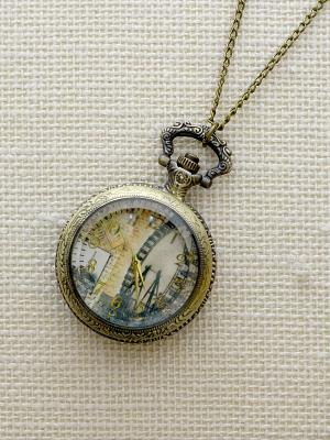 Кулон-часы Аттракцион Mitya Veselkov. Цвет: бронзовый