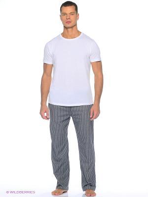 Домашние брюки YC COTTON. Цвет: серый