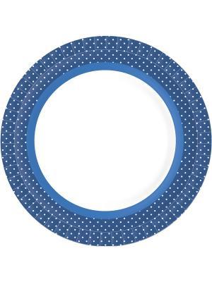 Тарелки бумажные 18 см BBQ BLUE LINE, 10 шт. DUNI. Цвет: голубой