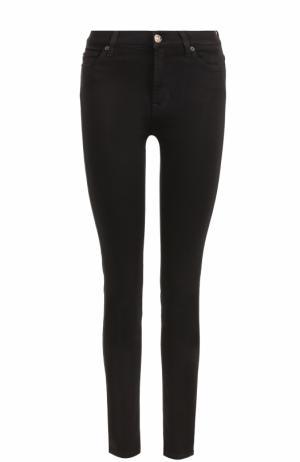 Однотонные джинсы-скинни 7 For All Mankind. Цвет: черный