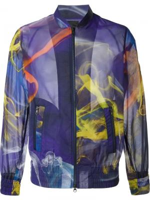 Куртка-бомбер с абстрактным принтом Y-3. Цвет: многоцветный