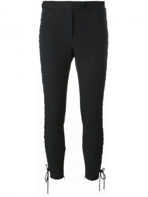 Укороченные брюки со шнуровкой Alexander McQueen. Цвет: чёрный