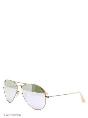 Очки солнцезащитные Ray Ban. Цвет: золотистый, зеленый
