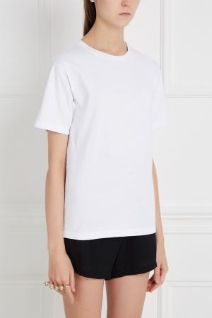 Хлопковая футболка BLANK.MOSCOW. Цвет: белый