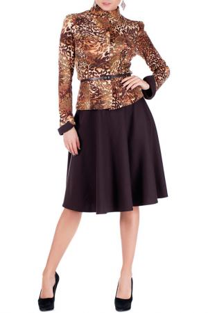 Комплект с юбкой Mannon. Цвет: рыже-коричневый