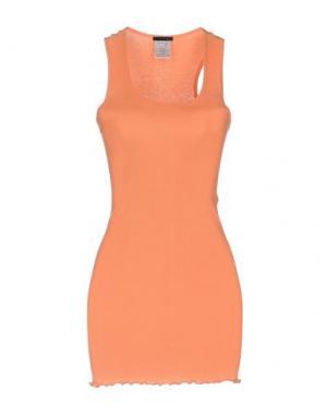 Длинное платье PINKO. Цвет: лососево-розовый