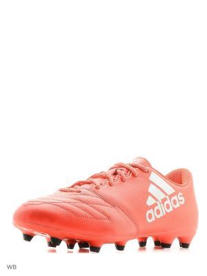 Футбольные бутсы (мяг.покр.) муж. X 16.3 FG Leather Adidas. Цвет: красный