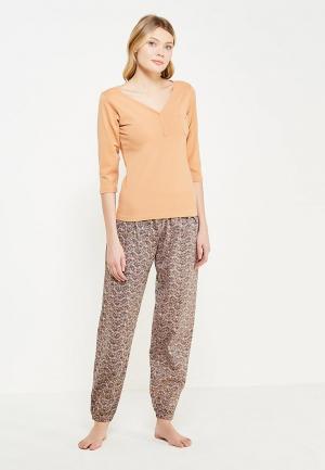 Пижама Alla Buone. Цвет: коричневый