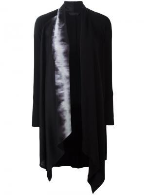 Пальто с принтом на лацкане Demoo Parkchoonmoo. Цвет: чёрный