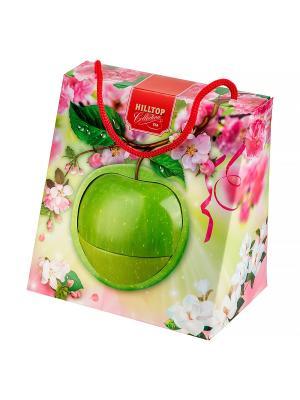 Чай Hilltop Цейлонское утро 50 гр., Зеленое яблоко в весеннем футляре. Цвет: черный