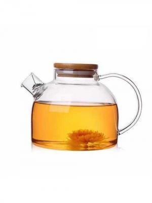Чайник заварочный стеклянный с фильтр-пружинкой, объем 1 л Hunan Provincial. Цвет: прозрачный
