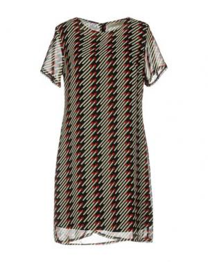 Короткое платье LOU LONDON. Цвет: черный