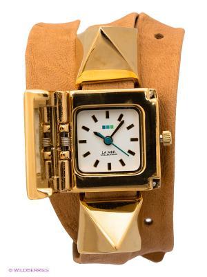 Часы La Mer Collections. Цвет: светло-коричневый