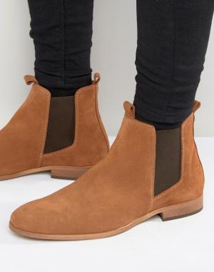 Zign Замшевые ботинки челси. Цвет: рыжий