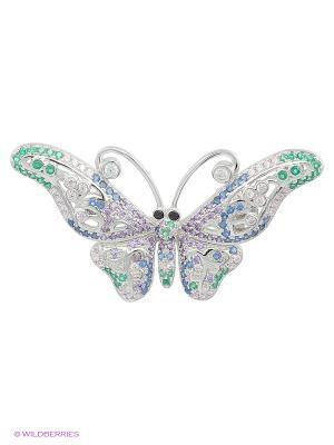 Брошь-Подвеска JV ДЖЕЙ ВИ. Цвет: серебристый, зеленый, синий, сиреневый, фиолетовый
