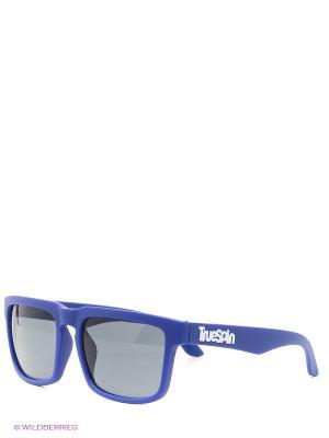 Солнцезащитные очки True Spin. Цвет: синий, серый