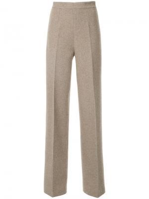 Трикотажные брюки с завышенной талией Ermanno Scervino. Цвет: телесный
