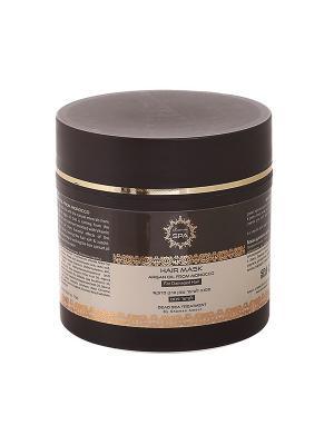 Маска Moroccan SPA для поврежденных волос с маслом марокканского аргана 250мл Shemen Amour. Цвет: белый