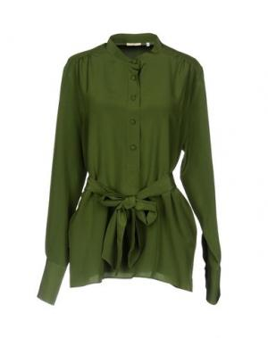 Блузка TRUE ROYAL. Цвет: зеленый-милитари