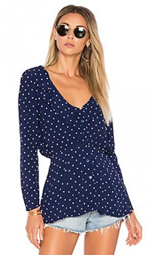 Классическая рубашка в горошек lilly AUGUSTE. Цвет: синий