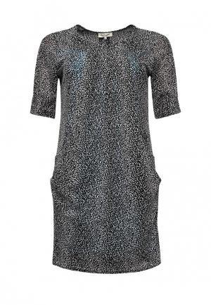 Платье Bassini. Цвет: черно-белый