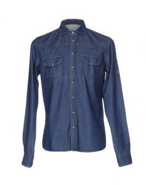 Джинсовая рубашка ORIGINAL VINTAGE STYLE. Цвет: синий