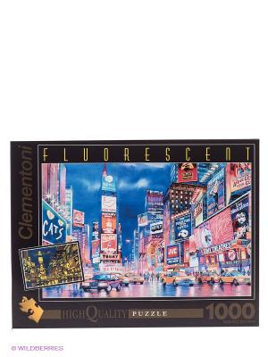 Пазл флуоресцентный Огни Нью-Йорка Clementoni. Цвет: синий, красный