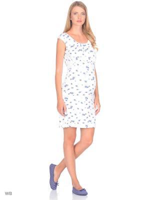 Ночная сорочка Nuova Vita. Цвет: синий