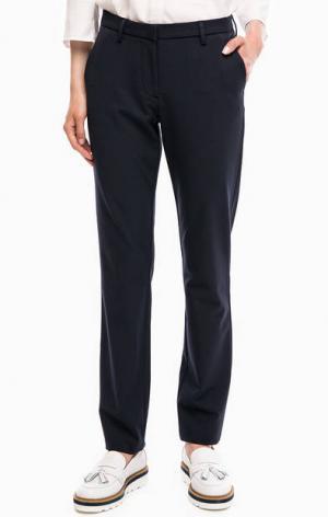 Синие зауженные классические брюки Gant. Цвет: синий