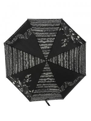 Зонт складной Linea Music Nero Emme. Цвет: черный, белый