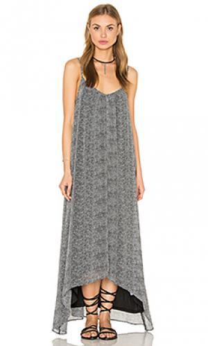 Макси платье с принтом Bishop + Young. Цвет: black & white