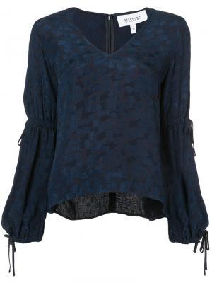 Блузка с присборенными рукавами Derek Lam 10 Crosby. Цвет: синий