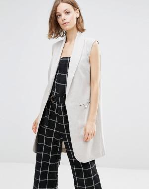 Shades of Grey Пальто без рукавов. Цвет: серый