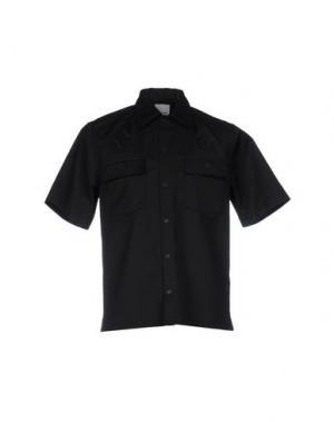 Pубашка WOOD. Цвет: черный