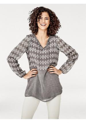 Блузка Linea Tesini. Цвет: серо-коричневый