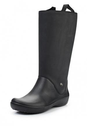 Резиновые сапоги Crocs. Цвет: черный