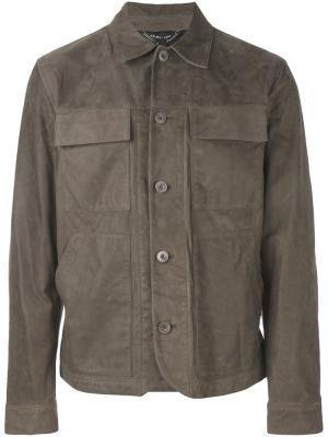 Куртка с карманами Helmut Lang. Цвет: серый