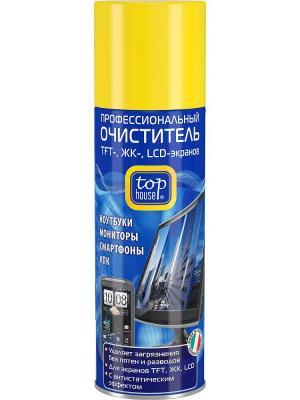 Top house профессиональный очиститель TFT-, ЖК-, LCD- экранов, 200 мл.(аэрозоль). Цвет: синий