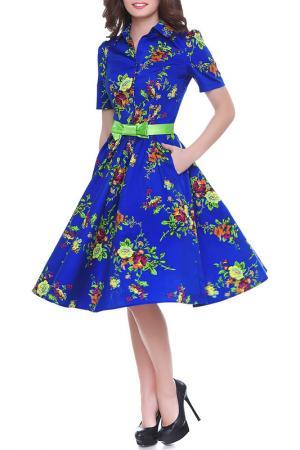 Платье Olivegrey. Цвет: сине-зеленый