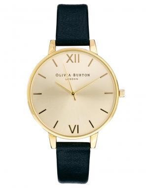 Olivia Burton Часы с крупным циферблатом и черным ремешком OB13BD06. Цвет: черный