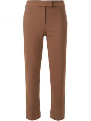 Укороченные брюки Scanlan Theodore. Цвет: коричневый