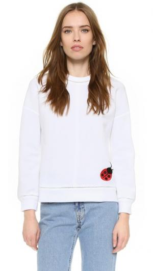 Пуловер с вышивкой Victoria Beckham. Цвет: белый