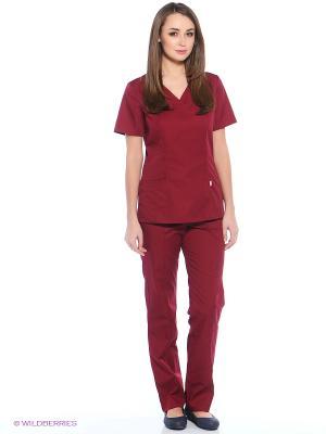 Блузка медицинская Med Fashion Lab. Цвет: темно-бордовый