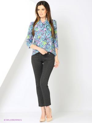 Блузка для офиса в широкой размерной линейке OLENNY. Цвет: бирюзовый, сливовый, темно-фиолетовый, салатовый, лиловый, фиолетовый, розовый, зеленый