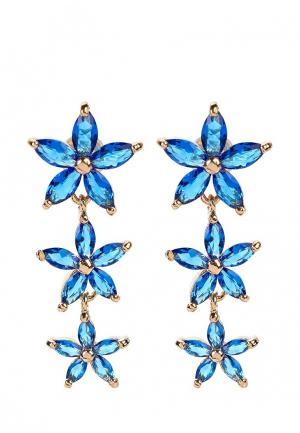 Серьги Pur. Цвет: синий