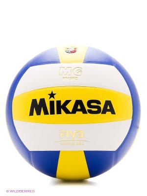 Мяч волейбольный MIKASA MV 5 PC 1/50. Цвет: синий, желтый