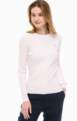 Розовый джемпер с косами Gant. Цвет: розовый