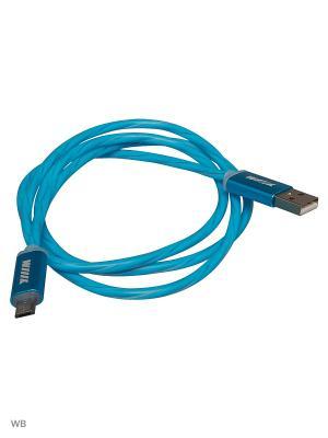Кабель-переходник светящийся USB-MicroUSB Blue (CBL710-UMU-10BU) WIIIX 1m. Цвет: синий
